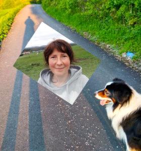 Paní domácí a pes Uhlík